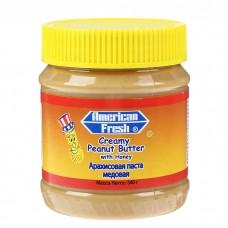 Арахисовая паста American fresh 340гр медовая