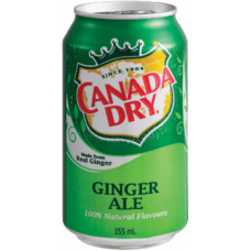 Canada Dry Can Ginger Ale, 355ml