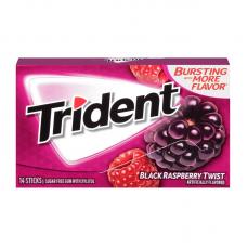 Жев. резинка Trident Black Raspberry Twist, 14pcs.
