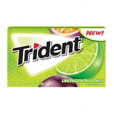 Жев. резинка Trident Lime & Passion Fruit Twist, 14pcs.