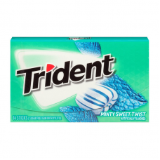 Жев. резинка Trident Minty Sweet Twist, 14pcs.