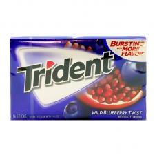 Жев. резинка Trident Wild Blueberry Twist, 14pcs.